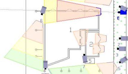 Зоны обзора камер видеонаблюдения