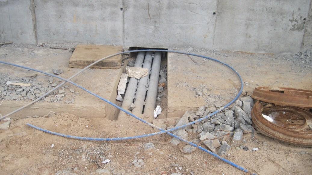 Кабельная канализация - ввод в здание