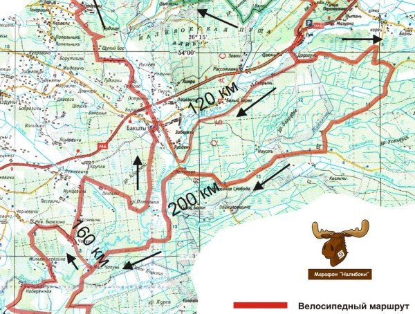 Маршруты марафона - Налибоки 2013