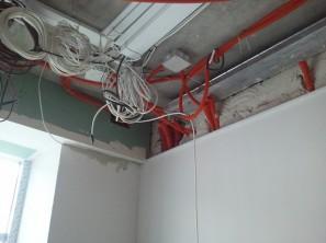 Короб ПВХ за подвесным потолком