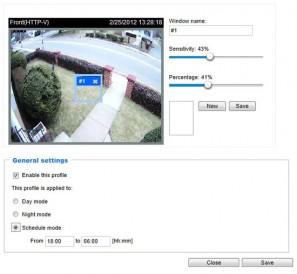 Vivotek IP8362 - настройка детектора движения