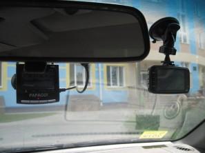 GS80000 и Papago в автомобиле