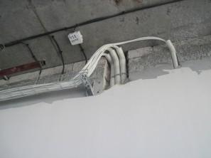 Пример прокладки кабеля в трубах (Ц8-912-1)
