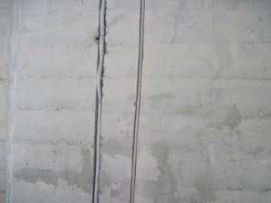 Пример прокладки труб по стенам (Ц8-409-1)