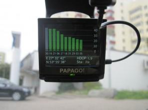 Меню Papago P3 - GPS