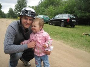 Перед игрой вместе с дочкой