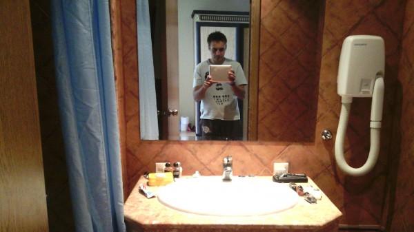 Андалусия - ванная в номере с видом на море
