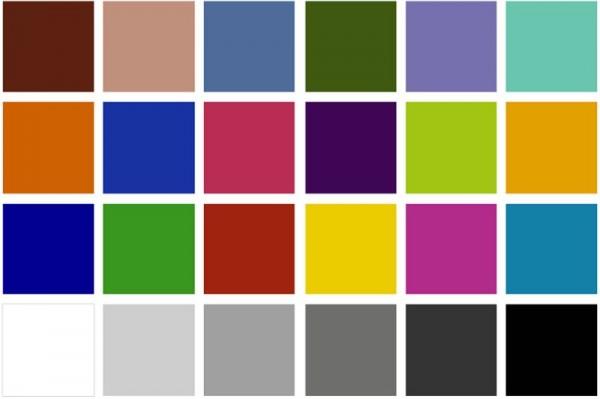 Таблица для теста цветопередачи