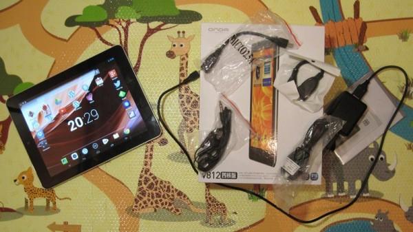 Комплектация планшета Onda V812