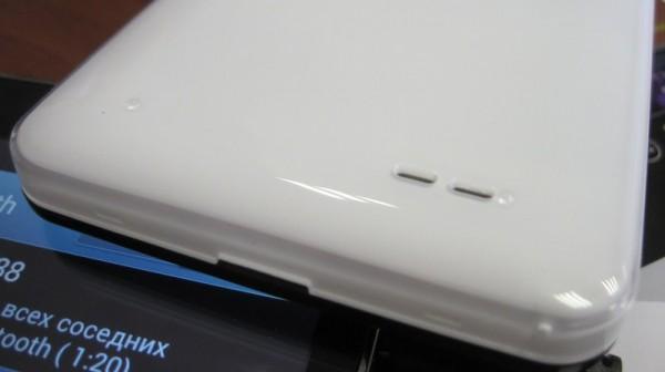 Simdo D98 (белый) - оформление задней крышки