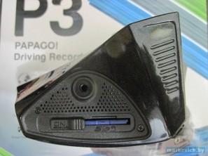 Видеорегистратор Papago P3 - кнопка включения