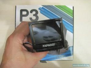 Видеорегистратор Papago P3 - экран