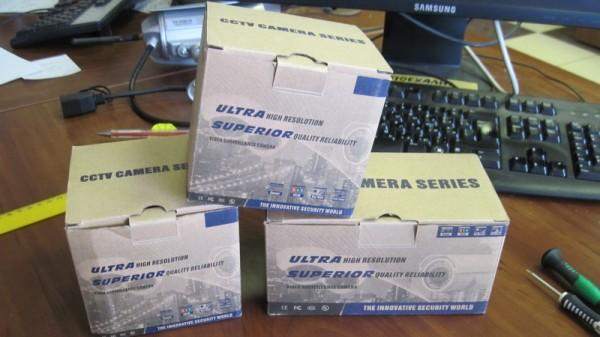Упаковка камер видеонаблюдения