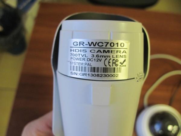 GR-WC7010 -камера на чипе Fullhan