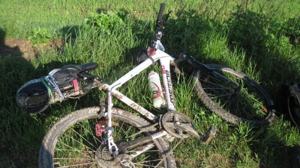Багажник для велосипеда в работе