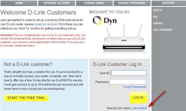 Регистрация на dlinkddns.com