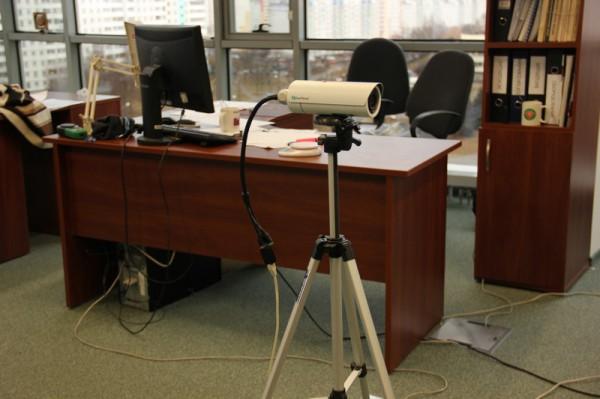 IP видеокамера Everfocus в офисе