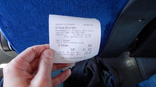 Стоимость автобуса Rygge - Oslo