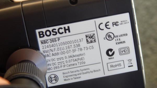 Потребляемый сетевой камерой ток