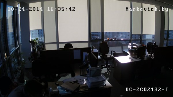 Hikvision DS-2CD2132-i - рабочее место (WDR OFF)