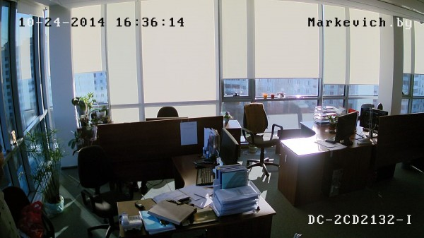 Hikvision DS-2CD2132-i - рабочее место (WDR ON)