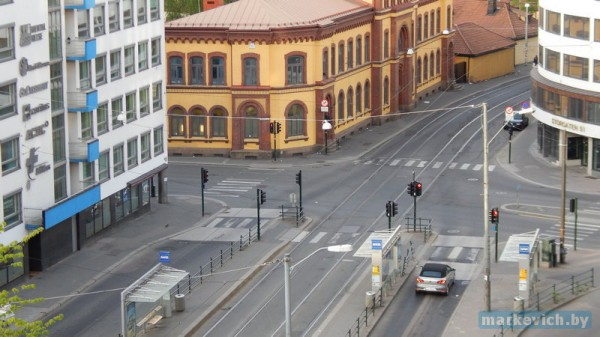 Anker hostel - вид из окна
