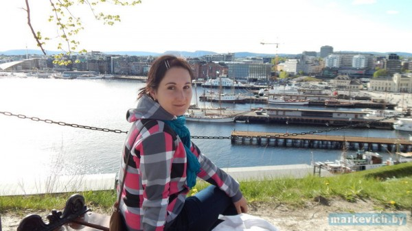Вид с крепости в Осло