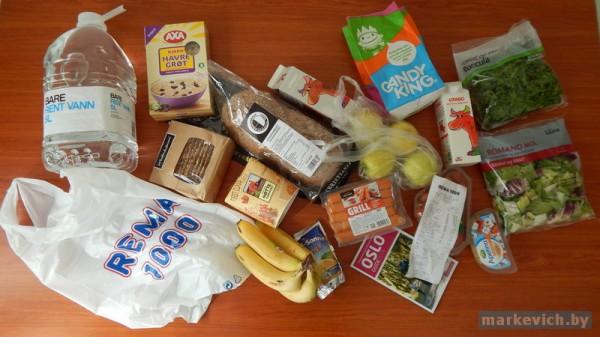 Rema 1000 в Осло: продукты