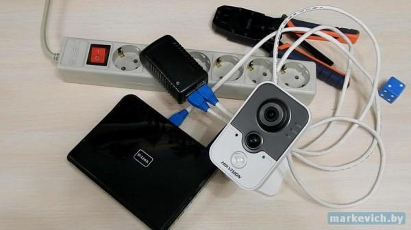 Использую POE инжектор для питания IP камеры