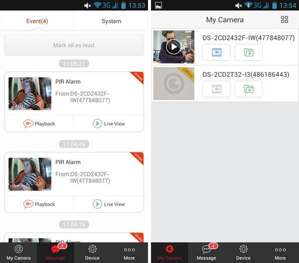 Ezviz на смартфоне Lenovo