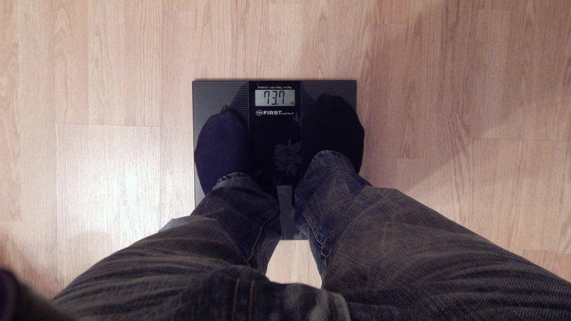 Мой вес - декабрь 2014