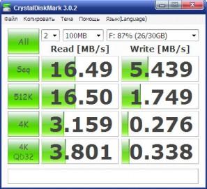 CrystalDiskMark - microSD 32GB