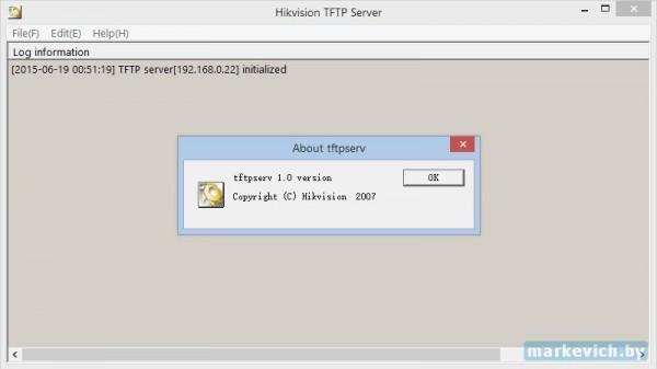 Прошивка видеорегистратора - TFTP
