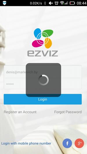 Ezviz - регистрация