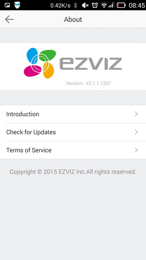 Ezviz - версия 2.1.1.1207