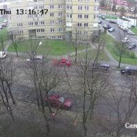 Видеонаблюдение за стоянкой дома