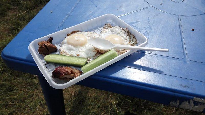 Завтрак от организаторов марафона