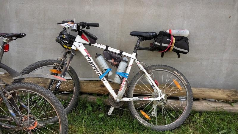 Мой велосипед. Сломал два держателя