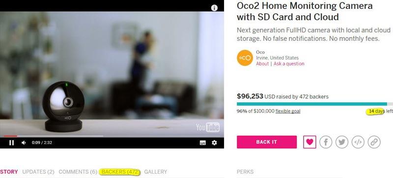 Oco2 на Indiegogo.com