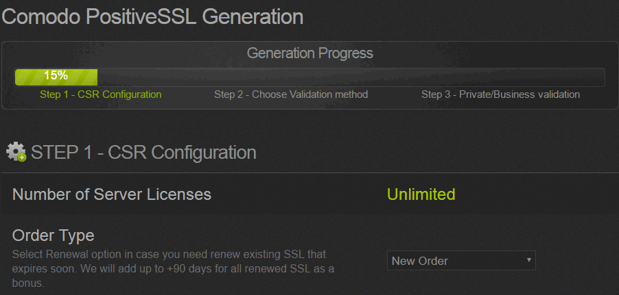 Comodo Ppozitive SSL
