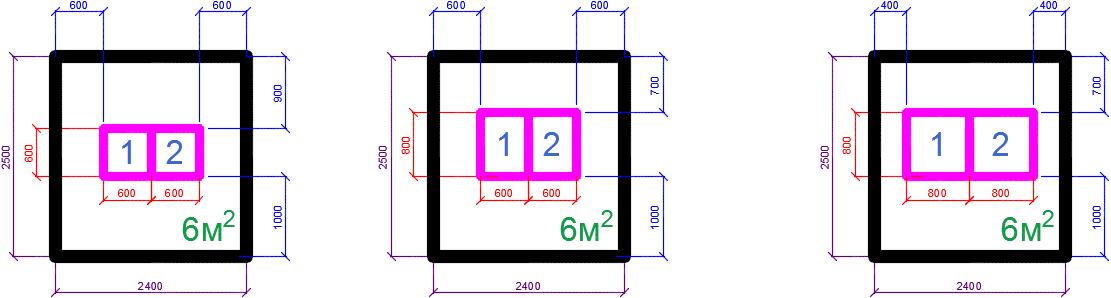 Площадь помещения кроссовой