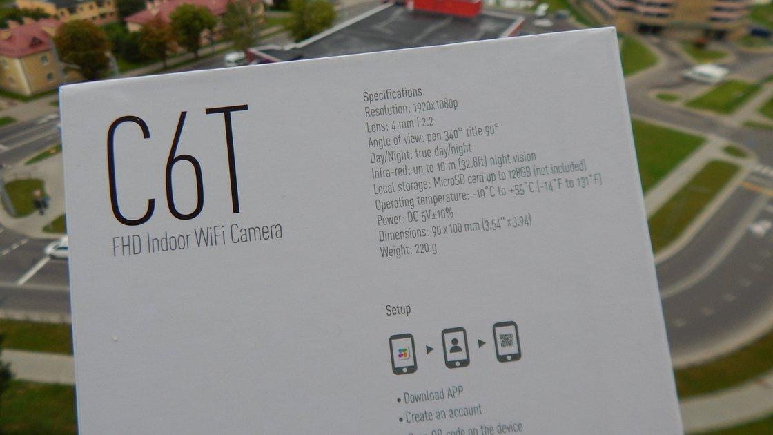Характеристики Ezviz C6T