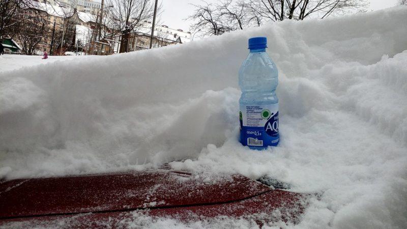 Минск. Столько выпало снега в выходные.