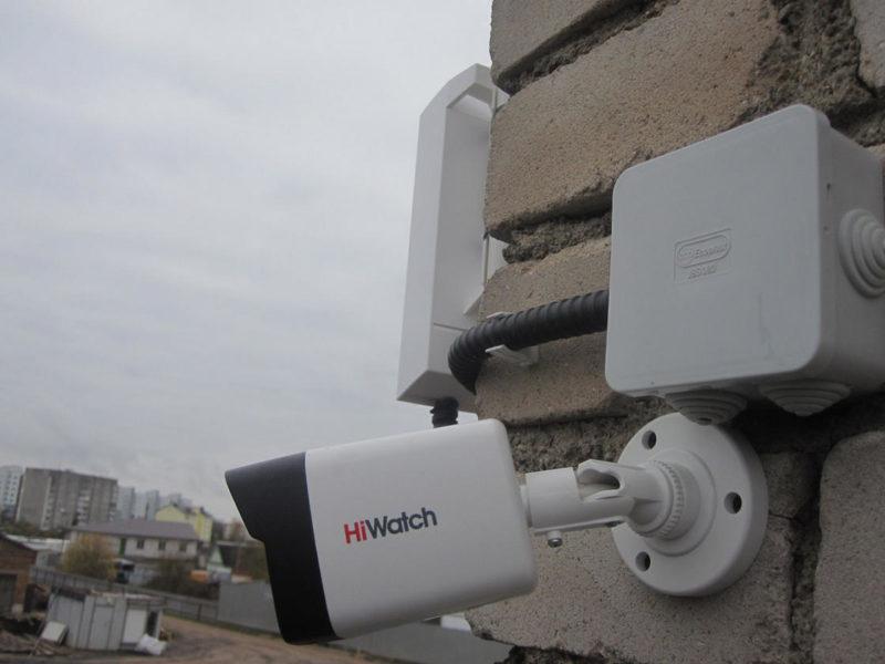 IP камера и Wi-Fi мост на объекте
