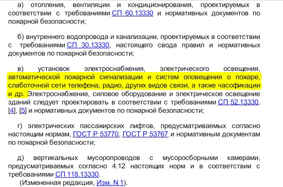 Слаботочные системы в  административных зданиях  (Россия)
