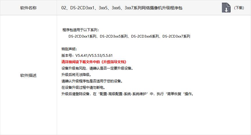Прошивка для серии DS-2CD3xx5