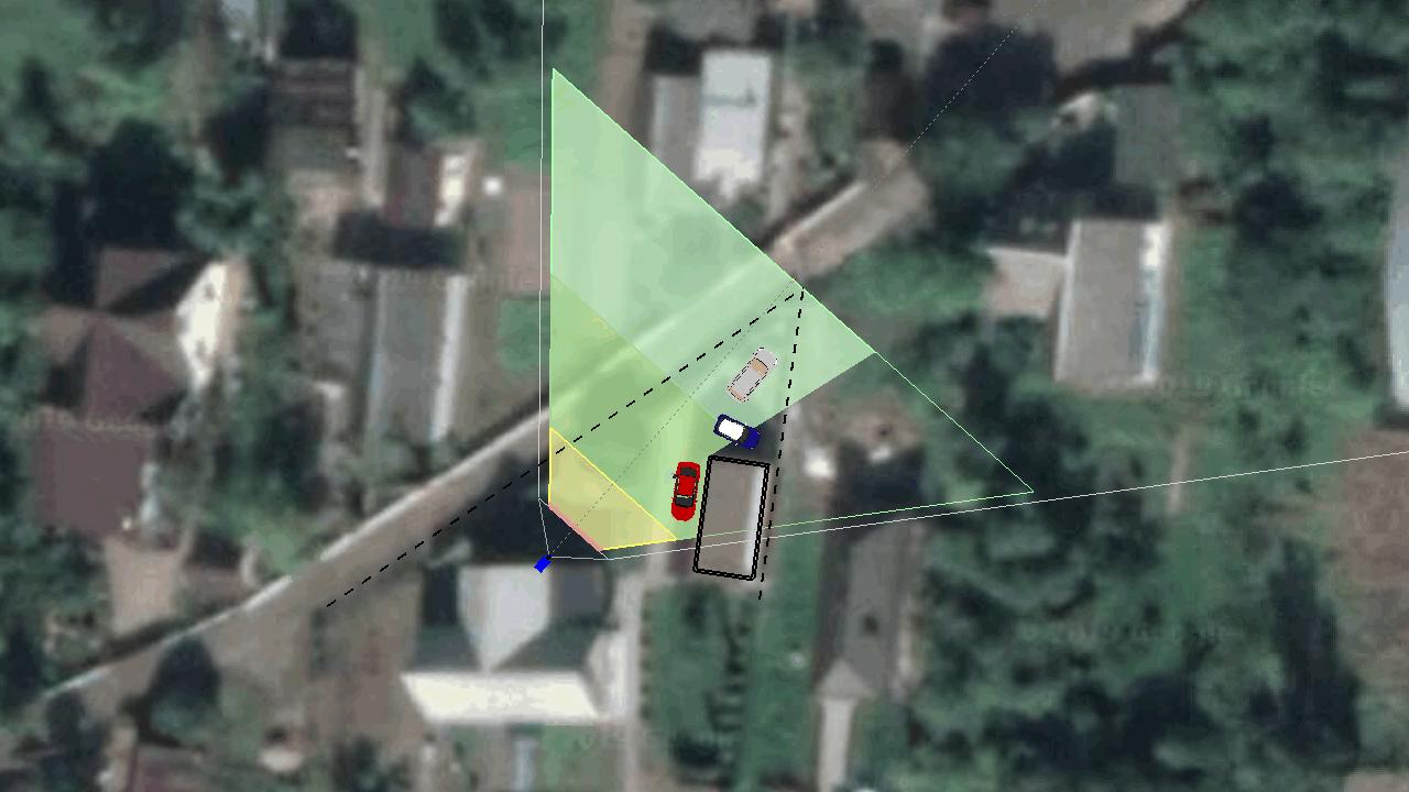 Зона обзора камеры установленной на жилом доме