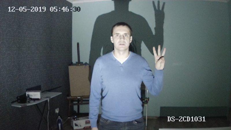Тест DS-2CD1031-i. На фонаре 70 люмен