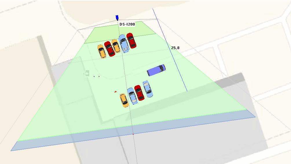 Зона обзора камеры установленной на многоквартирном доме
