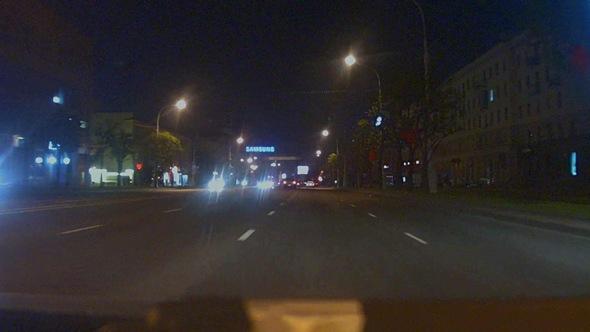 Everfocus EAN2350, проспект ночью